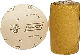 Norton A290 No-Fil Adalox Abrasive Disc, Heavy Duty, Paper Backing, Aluminium Oxide, 6