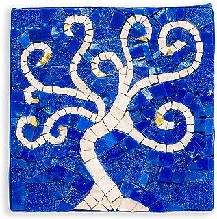 MyriJoy - Kit Mosaico Adulti - Albero della Vita Blu - fai da te - Hobby creativo - Idea regalo originale - 14x14cm - tess...