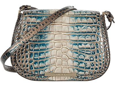 Brahmin Magnus Small Nadine Crossbody (Petrol) Handbags
