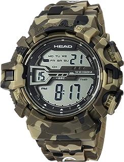 HEAD Mens Quartz Watch, Digital Display and Rubber Strap HE-106-02