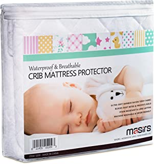 Crib Mattress Protector - Comfortable Breathable and Waterproof Bamboo Material. Keep your Crib Mattress Clean and Protect...