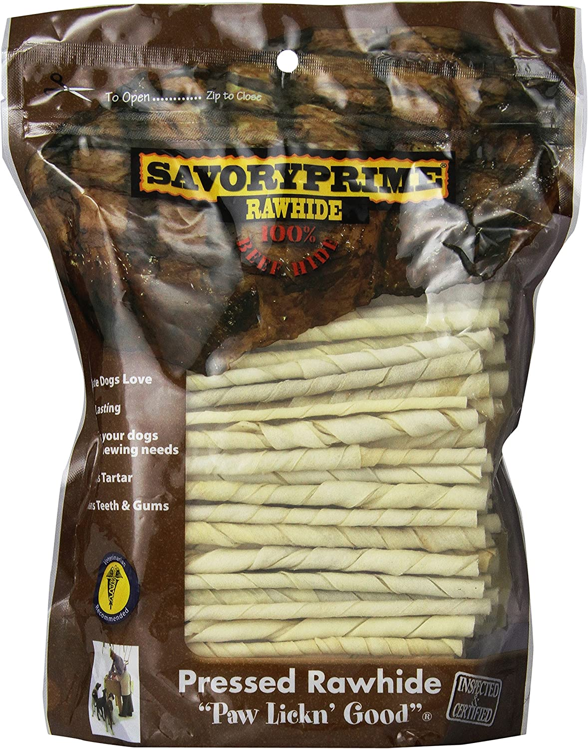 Savory Popular shop is the lowest price challenge Prime 100 Count 5 Inch Sticks shipfree Rawhide 017 White Twist