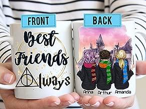 Best Friends Always - Sisters Always - Personalized Gift for Best Friend - BFF Coffee Mugs - Soul Sisters - Long Distance Friend - Best Friends - Wizard Sisters Mug