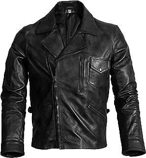 ZERAAFAT Speciale zwarte & bruine bikerleren jassen voor heren - motorjack - Bomber Leather Jacket