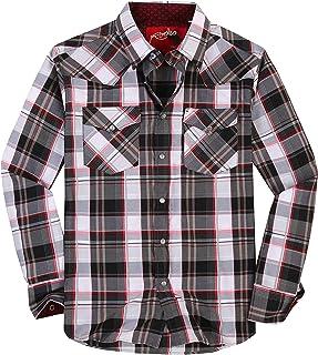 Mens Casual Button Down Shirts Regular Fit Plaid Western Shirt