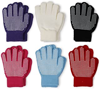 Gilbin Magic-Stretch Gripper Glove, Kids Size, Colorful Set, 6 Pair
