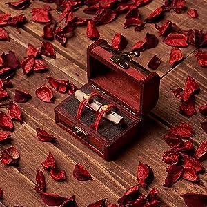 ELCORDONROJO Regalos Originales para Mujer y Hombre. Cofre con 2 Pulseras Leyenda Hilo Rojo del Destino.
