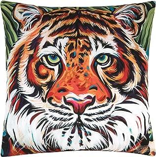 C&F Home Colorful Bengal Tiger Indoor/Outdoor HD Indoor/Outdoor Pillow 18x18 Pillow Orange