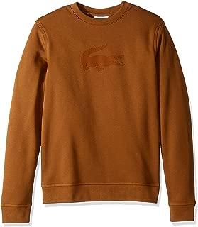 Lacoste Men's Long Sleeve Velvet Croc Crew Neck Sweatshirt