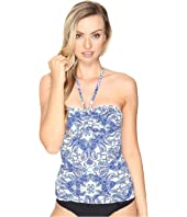Bleu Rod Beattie - Driving Miss Paisley Bandeau Tankini Top