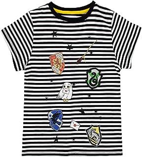 HARRY POTTER Camiseta para Niñas Los Escudos de Las Casas de Hogwarts