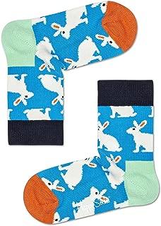 Happy Socks Unisex Baby Bunny Socks, Multicolour, 7-9Y