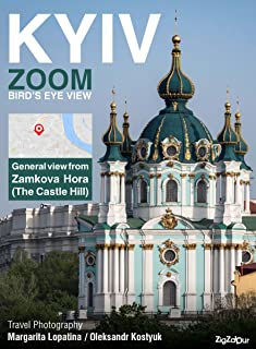 Kyiv Zoom Bird's Eye View. General view from Zamkova Hora (The Castle Hill).: Travel Photography