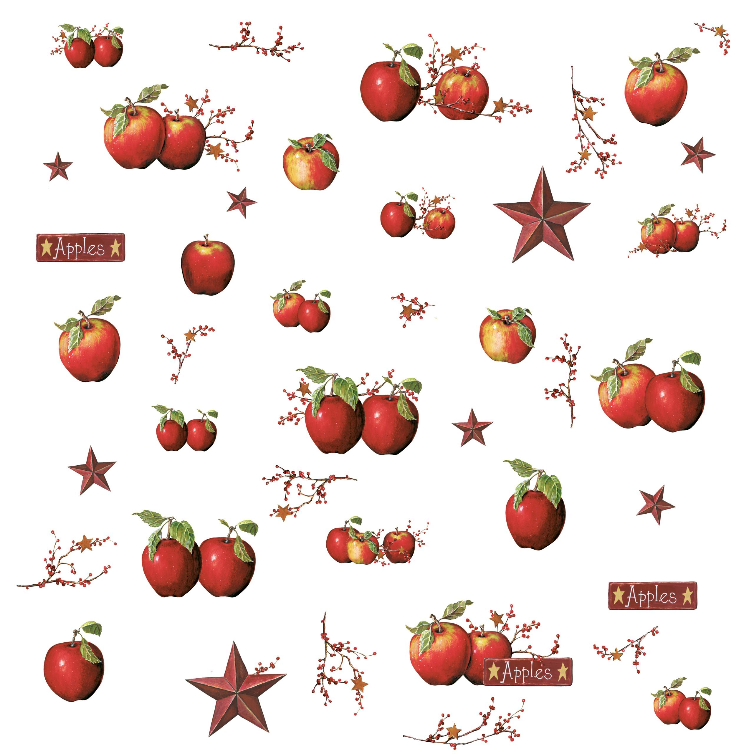 RoomMates Country Apples Stick Decals