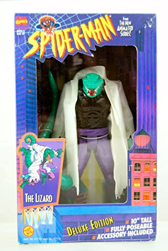 The Lizard Action Figure - Deluxe edition - Spider-Man - Marvel - Toy Biz - 10  Tall - Fully Poseable - Limited Edition - Mint - Collectible