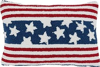 """Saro Lifestyle Poly-Filled Americana Design Throw Pillow, 12"""" x 18"""", Multi"""