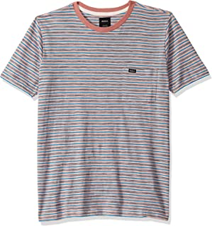 RVCA Men's Foz Stripe Short Sleeve Crew Neck Shirt