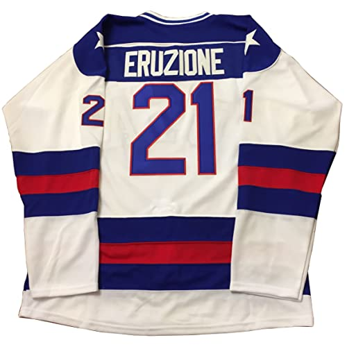 0238e6136ae Mike Eruzione  21 1980 Miracle On Ice USA Hockey Christmas Jersey