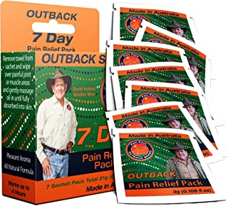 Outback Pain Relief – 7 Pack of 3mL Sachets – All-Natural Topical Oil