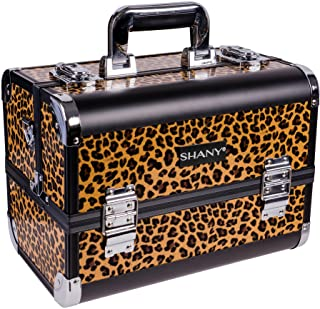 SHANY Fantasy Collection Makeup Artists Cosmetics Train Case - Leopards texture