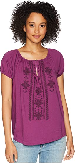 Embroidered Cotton Top