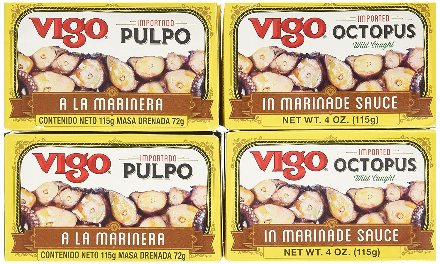 Vigo Today's only Octopus in Marinade Sauce Pack 4-Ounce 10 of Limited time cheap sale Cans
