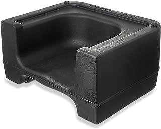 Carlisle 711003 Plastic Dual Seat Restaurant-Style Booster Chair, Black