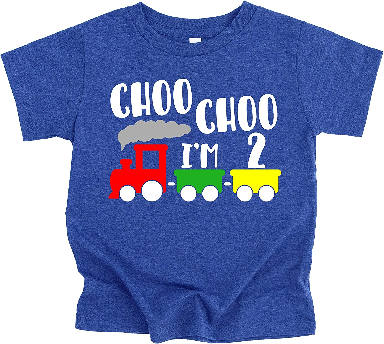 Olive Loves Apple Choo Choo I'm Two Boys 2nd Birthday T-Shirts and Raglans for Baby Boys Second Birthday Outfit