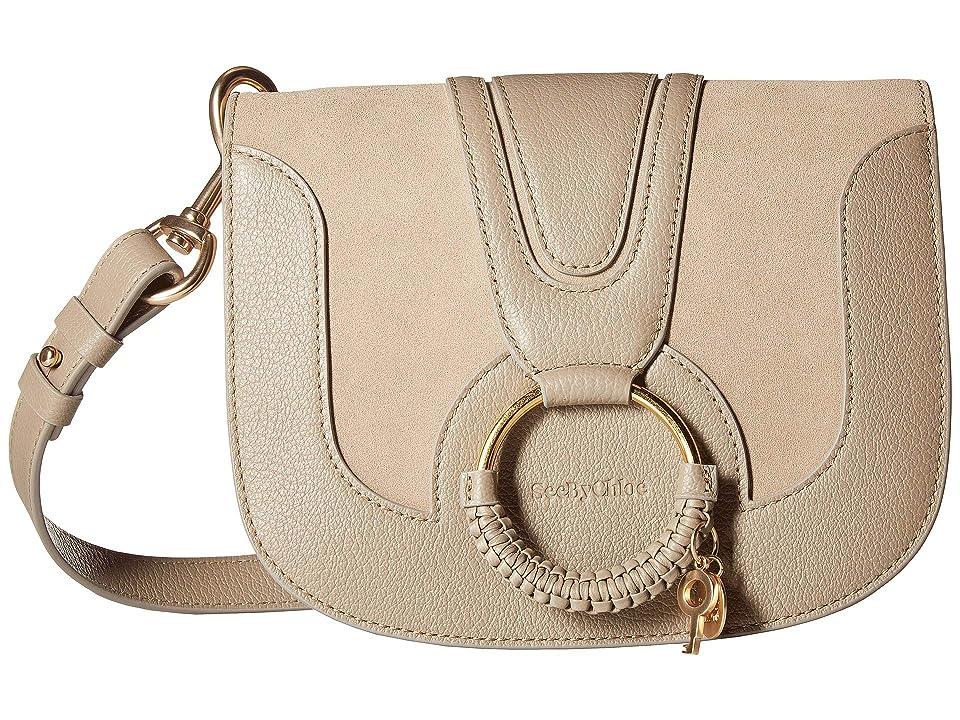 See by Chloe Hana Small Suede Leather Crossbody (Motty Grey) Cross Body Handbags