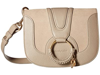See by Chloe Hana Small Suede Leather Crossbody (Motty Grey) Cross Body Handbags