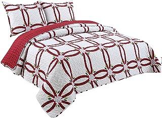 Coast to Coast Living Quilt Sets, Luxurious 3pc Bedspreads- Cotton Rich Soft (Aspen, Queen)