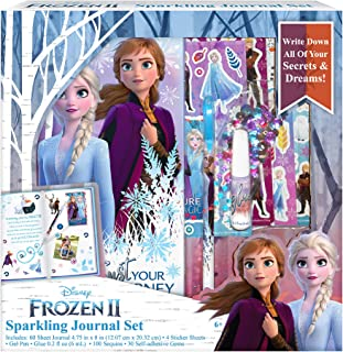 Disney Frozen 2 from Kids Journal Diary for Kids with Sequins and gems Sparkle Diary Journal Set
