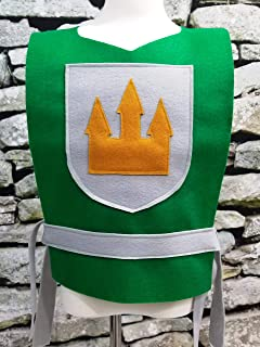 Adult Green Knight Costume Tunic (King, Prince, Medieval, Solider) - Baby/Toddler/Kids/Teen/Adult Sizes