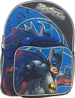 Dc Comics Boys' Batman Full Size Backpack with Detachable Lunch Kit, 3D