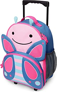 Skip Hop Zoo Kid Rolling Luggage, Pink Blossom Butterfly, 30.5 x 14 x 40.6 cm