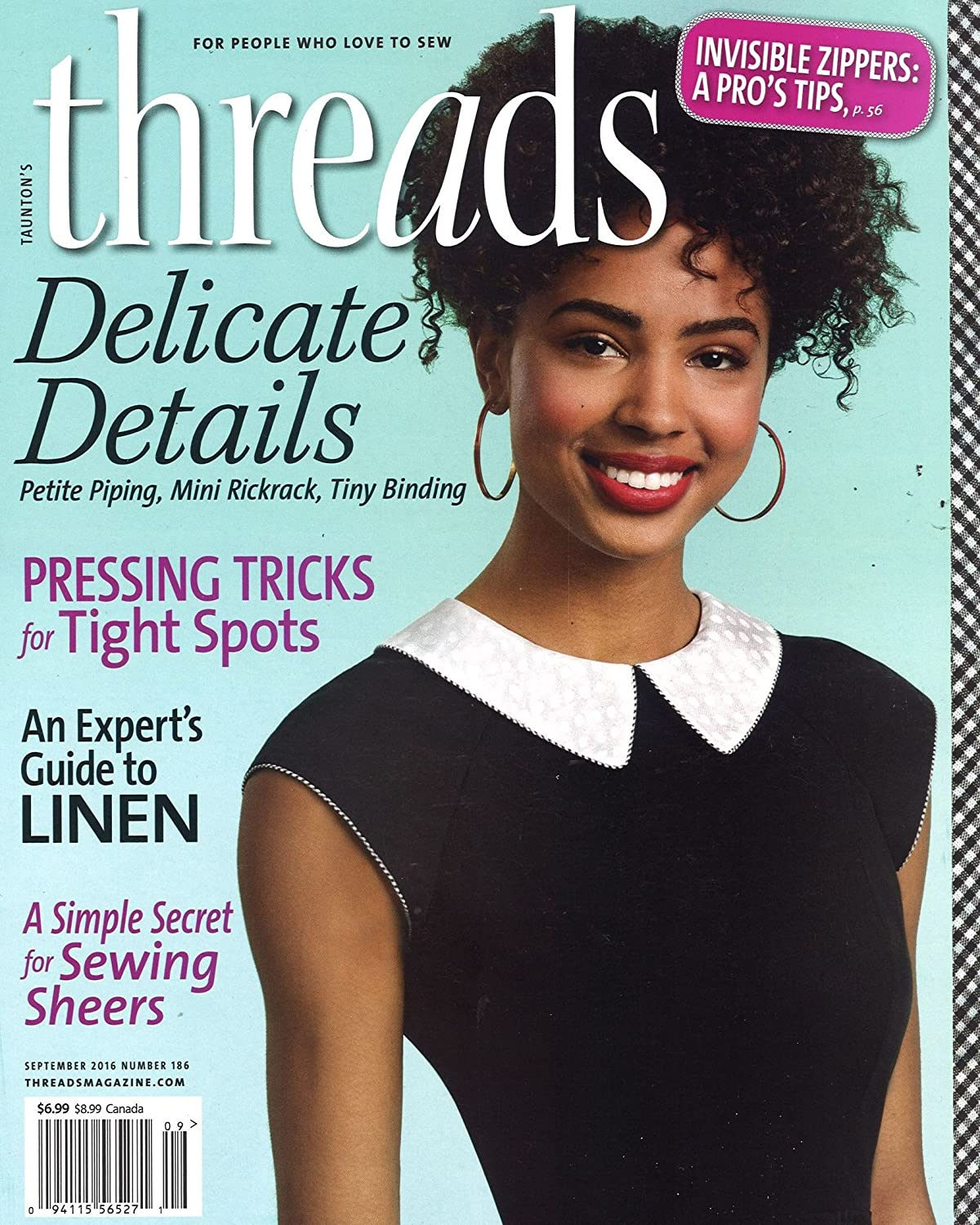 Threads Magazine sewing No 35 Taunton Press quilting G condition knitting FREE shipping in NA embroidery June Jul 1991