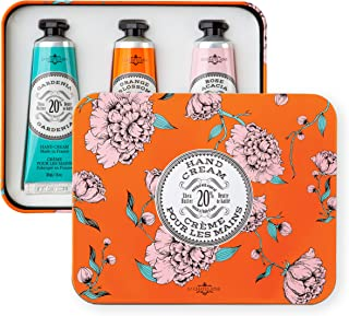 La Chatelaine Hand Cream Trio, Plant-Based, Made in France with 20% Organic Shea Butter (Gardenia, Orange Blossom , Rose A...