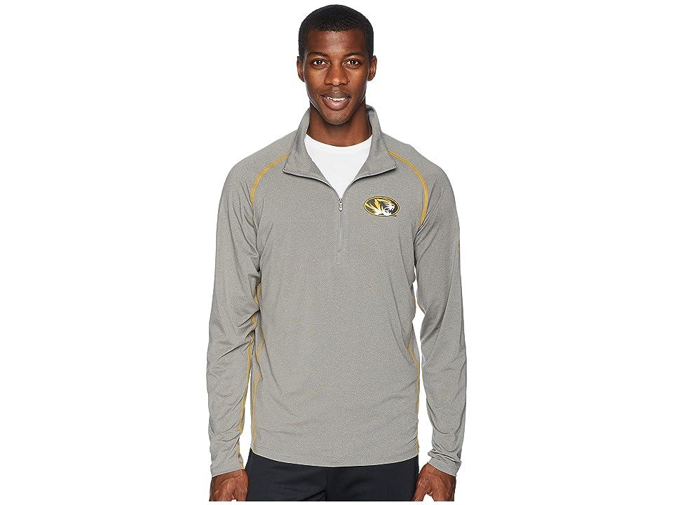 Columbia Collegiate Tuk Mountaintm 1/2 Zip Shirt (Missouri/Boulder/Golden Yellow) Men