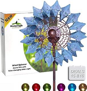 decoraci/ón de jard/ín al Aire Libre 3 Unidades Wonque Molino de Viento para jard/ín