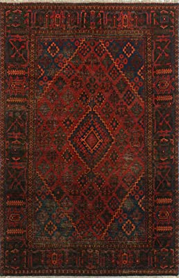 Noori Rug Semi Antique Nykko Red/Navy Rug, 6'2 x 9'7