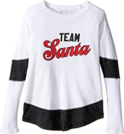 Team Santa Thermal w/ Contrast Long Sleeve Top (Little Kids/Big Kids)