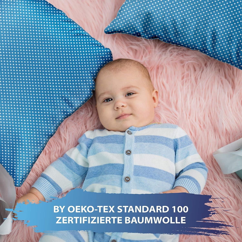 Federe Cotone Bambino decorativo per la cameretta dei bambini Motivo gufo, 40 x 40 cm federa cuscino 40 x 40 bimbo
