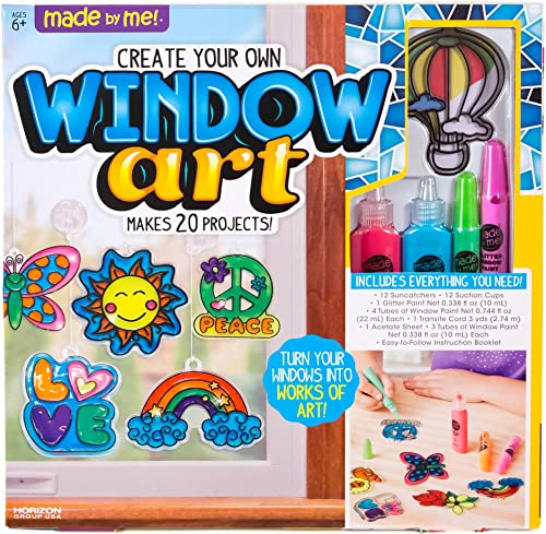 Made By Me Create Your Own Window Art by Horizon Group USA, Paint Your Own Suncatchers. Kit Includes 12 Pre-Printed S...