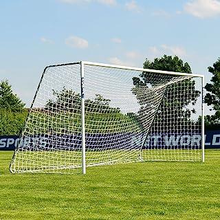 FORZA Alu60 Soccer Goal (16ft x 7ft) (Single or Pair) (Optional Target Sheet) – Super Strong Aluminum Soccer Goal Perfect for Mini Soccer [Net World Sports]
