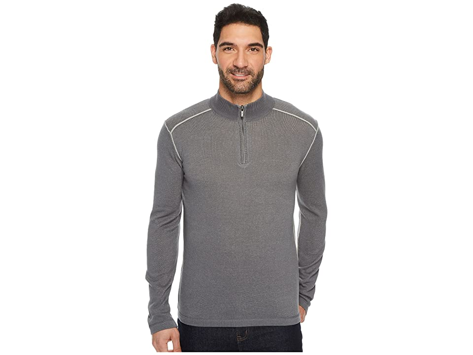 Ecoths Noah Zip Neck Sweater (Castlerock) Men