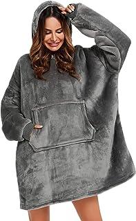 YEPLINS Pullover Sweatshirt Mit Kapuze Robe Decke Hoodie Decke Sweatshirt Flanell Hoodies