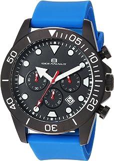 Oceanaut Men's Naval Stainless Steel Quartz Silicone Strap, Blue, 23 Casual Watch (Model: OC1313)