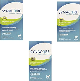 Van Beek Synacore Digestive Support for Dogs, 30-Pack (3 Pack)