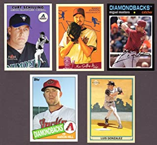 Arizona Diamondbacks (5) Card Heros REPRINT Baseball Lot #51 (Randy Johnson) (Luis Gonzalez) (Curt Schilling) (Miguel Montero) (Aaron Hill)