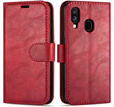 "Case Collection Premium Leather Folio Cover for Samsung Galaxy A40 Case (5.9"") Magnetic Closure Full Protection Design Wallet Flip with [Card Slots] and [Kickstand] for Samsung Galaxy A40 Phone Case"